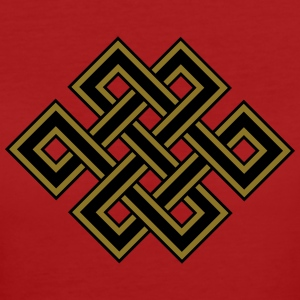 Tibetan endless knot, eternal, celtic, loop, luck Tee shirts - T-shirt Bio Femme
