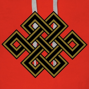 Tibetan endless knot, eternal, celtic, loop, luck Hoodies & Sweatshirts - Women's Premium Hoodie