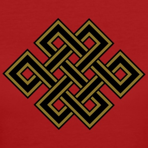 Tibetan endless knot, eternal, celtic, loop, luck Magliette - T-shirt ecologica da donna