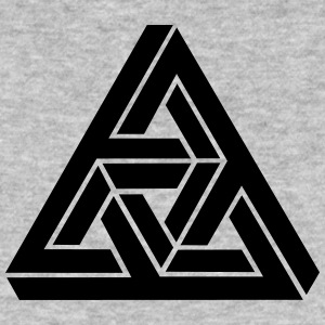 Impossible Triangle, optical illusion, Escher Tee shirts - T-shirt bio Homme