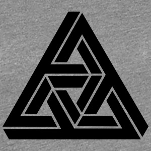 Impossible Triangle, optical illusion, Escher T-shirts - Vrouwen Premium T-shirt
