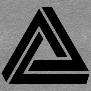 Penrose triangle, Impossible, illusion, Escher T-shirts - Dame premium T-shirt