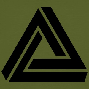 Penrose triangle, Impossible, illusion, Escher T-shirts - Organic mænd