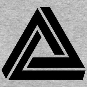 Penrose triangle, Impossible, illusion, Escher T-shirts - Ekologisk T-shirt dam