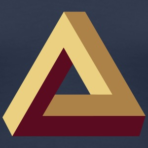 Impossible Triangle, optical illusion, Escher, tri T-shirts - Dame premium T-shirt