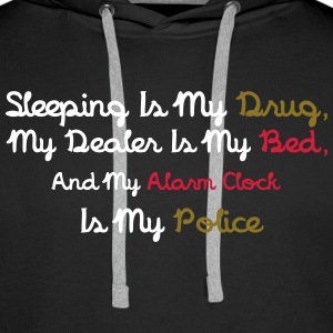 Sleeping Is My Drug Tröjor - Premiumluvtröja herr