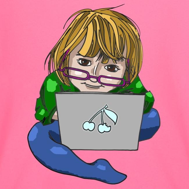 Littlest Computer Geek Girl Toddler's Tee