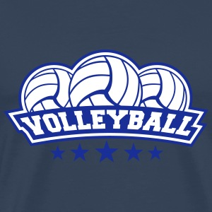Volleyball Sport Logo T-Shirts - Men's Premium T-Shirt