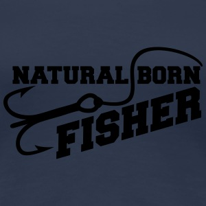 Natural Born Fisher T-shirts - Premium-T-shirt dam