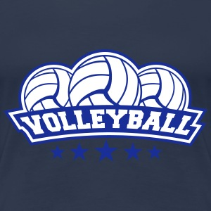 Volleyball Sport Logo T-Shirts - Frauen Premium T-Shirt