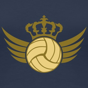 Volleyball Blazon Design T-shirts - Premium-T-shirt dam