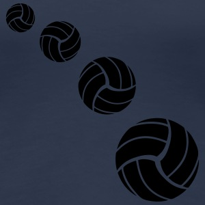 Volleyball Pattern T-shirts - Dame premium T-shirt