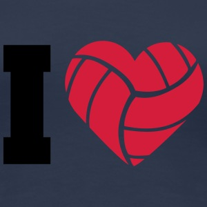 I Love Volleyball T-shirts - Premium-T-shirt dam