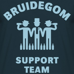 Bruidegom Support Team (Vrijgezellenfeest) T-shirts - Mannen T-shirt