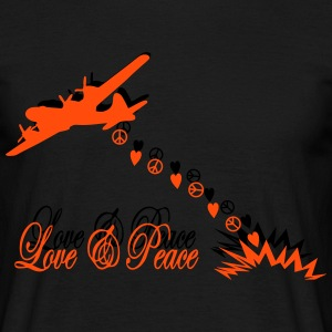 bomber love and peace T-Shirts - Men's T-Shirt