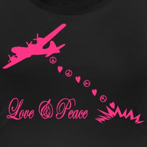 bombardier - love and peace, amour et 	paix Tee shirts - T-shirt col rond U Femme