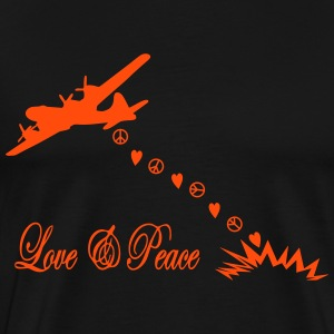 bomber love and peace T-Shirts - Men's Premium T-Shirt