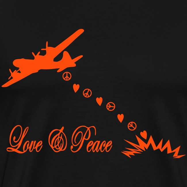 bomber bringing love and peace