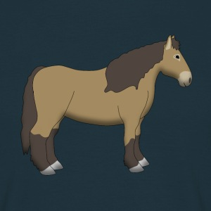 cold-blooded horse brown T-shirts - Mannen T-shirt