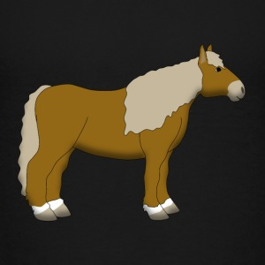 cold-blooded horse lightbrown Skjorter - Premium T-skjorte for barn