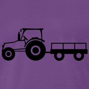 Tractor With Trailer T-Shirts - Men's Premium T-Shirt