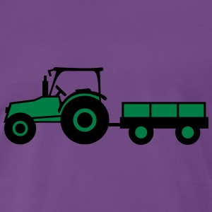 Tractor With Trailer T-skjorter - Premium T-skjorte for menn