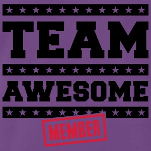 Team Awesome Member T-shirts - Herre premium T-shirt