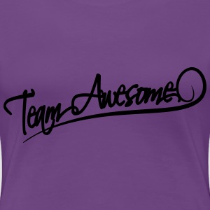 Team Awesome T-shirts - Premium-T-shirt dam