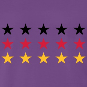 German Flag Stars Design T-shirts - Herre premium T-shirt
