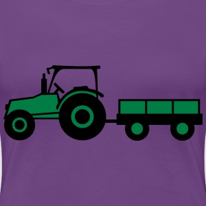 Tractor With Trailer T-Shirts - Frauen Premium T-Shirt