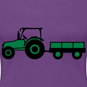 Tractor With Trailer T-Shirts - Women's Premium T-Shirt