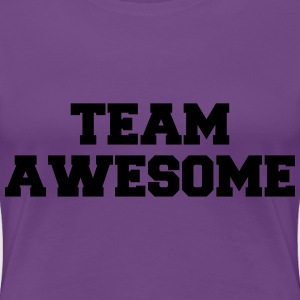 Team Awesome Logo T-shirts - Vrouwen Premium T-shirt