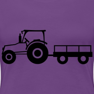 Tractor With Trailer T-skjorter - Premium T-skjorte for kvinner