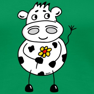 Cow with flower - color T-Shirts - Women's Premium T-Shirt