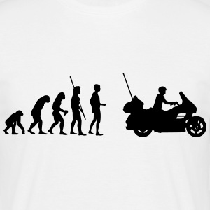 Evolutie Goldwing motorfiets  T-shirts - Mannen T-shirt