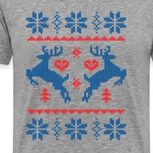 knitted christmas xmas T-Shirts - Men's Premium T-Shirt