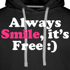 Always Smile Hoodies & Sweatshirts - Men's Premium Hoodie