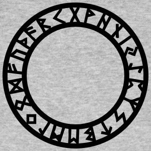 Rune Circle, Magical, Symbol, Futhark, Old Norse,  T-shirts - Mannen Bio-T-shirt