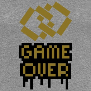 Game Over Marriage Rings T-shirts - Dame premium T-shirt