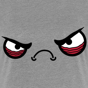 Angry Face T-shirts - Dame premium T-shirt