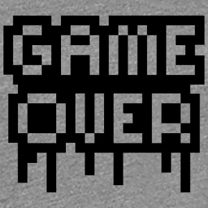 Game Over Stamp T-shirts - Dame premium T-shirt