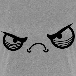 Angry Face T-shirts - Vrouwen Premium T-shirt