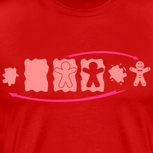Gingerbread Evolutie  T-shirts - Mannen Premium T-shirt