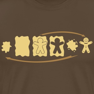 Gingerbread Evolution  T-shirts - Herre premium T-shirt