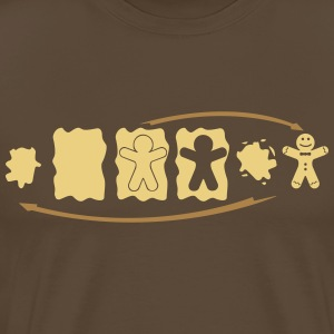 Gingerbread Evolution  T-shirts - Premium-T-shirt herr