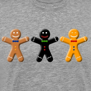Gingerbread races  T-Shirts - Men's Premium T-Shirt