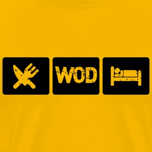 Eat WOD Sleep - Crossfit T-shirts - Premium-T-shirt herr