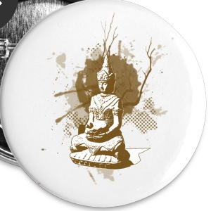 Buddha - Badge moyen 32 mm