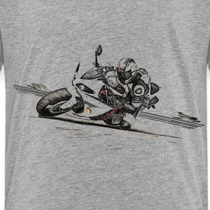 Motorrad, Motorbike, Bike, Speed, Hangoff - Kinder Premium T-Shirt