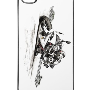 Motorrad, Motorbike, Bike, Speed, Hangoff - iPhone 4/4s Hard Case